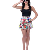 Comic Book Skater Skirt - Unique Vintage - Prom dresses, retro dresses, retro swimsuits.