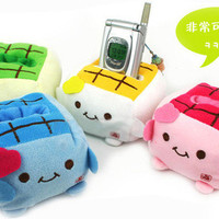 Cartoon Cute Tofu Mobile Holder Cell Phone Stand Seat Protect Hot Sale 2ll