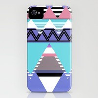 Cold Tribal Mountains iPhone Case by Gabriel Ramos | Society6