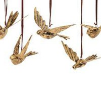GOLDLEAF BIRD ORNAMENT | ORNAMENTS | HOLIDAY | Jayson Home & Garden