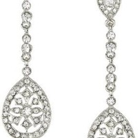 Nina Bridal Maegan Crystal Filigree Drop Earrings