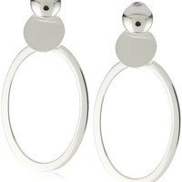 Argento Vivo Oval Mod Post Earrings