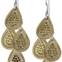 "Anna Beck Designs ""Gili"" Mini Chandelier 18k Gold Plated Earrings"