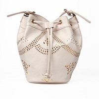 Cutely Cut Bucket Bag $40