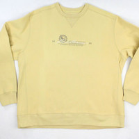 Eddie Bauer Mustard Yellow Crew Neck Sweatshirt - Mens XXL