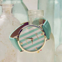 Cabana Stripe Watch in Mint, Women's Sweet Bohemian Jewelry