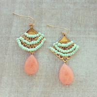 Pree Brulee - Empress Fan Earrings