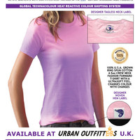 Global Technacolour Purple to Pink ULTRASOFT PREMIUM COTTON FASHION Hypercolor