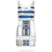 I Am R2-D2 Ladies' Tunic Tank - White,