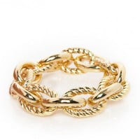Sareh Chain Bracelet in Gold - ShopSosie.com