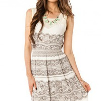 Lace Print Dress - ShopSosie.com