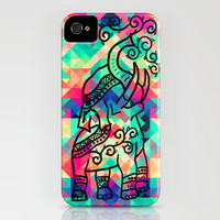 Elephant Triangles iPhone & iPod Case by Catherine Sandkuhl