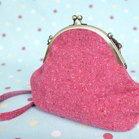 Raspberry Tweed Handbag by BrightonBelleGifts on Etsy