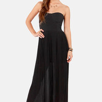Blaque Label Aurora Black Maxi Dress