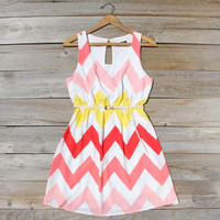 Indian Summer Chevron Dress, Sweet Women's Summer & Party Dresses