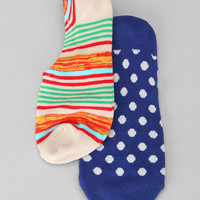 Stripes N Dots No-Show Sock - Pack of 2
