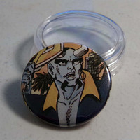 "Comic Book 1.5"" Button// Blue Devil"