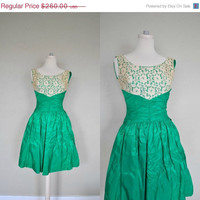 30 OFF SALE Small Spring Prom Dress / 1950s by WayfaringMagnolia