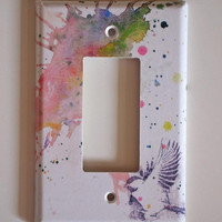 Flying Chickadee Bird Light Switch