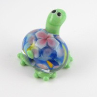 Confetti turtle, lampwork bead | BabsBeadsandDesign - Jewelry on ArtFire