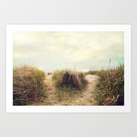 eat sleep beach Art Print by Sylvia Cook Photography