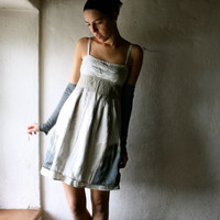 Formal dress in ecru silk and linen by larimeloom on Etsy