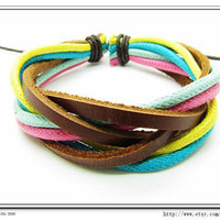 Multicolour Cotton Rope Woven Bracelets Adjustable