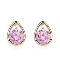 Beautiful Heart Rhinestone Fashion Earrings | LilyFair Jewelry