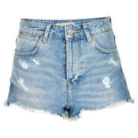MOTO Bleach Rip Hotpants - Shorts  - Clothing