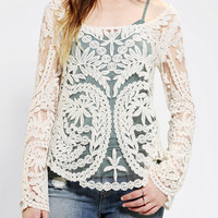 Staring At Stars Scalloped Crochet Tunic