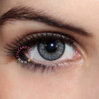 Royal Vision Love Color Gray Circle Lenses Colored Contacts Cosmetic Color Circle Lens | EyeCandy's