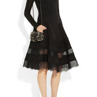 Donna Karan | Icons lace-trimmed cotton-blend dress | NET-A-PORTER.COM