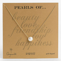 Women's Dogeared Boxed Freshwater Pearl Necklace - Pearl / Gold