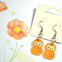 EDF energy zingy mascot earrings - Bows Jewellery