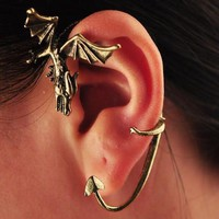 Game of Thrones Themed Dragon Ear Cuff (Single) | LilyFair Jewelry