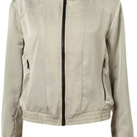 Soft Seamed Bomber - Jackets & Coats - Apparel - Topshop USA