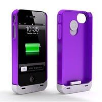 Amazon.com: Maxboost Hybrid Detachable Battery Case for iPhone 4S & iPhone 4 - White/Purple (1900 mAh, Fits All Versions of iPhone 4 & 4S): Home Improvement