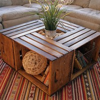Coffee Table from Wine Crates | Well Done Stuff !