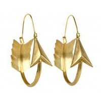 Brass Arrow Hoops