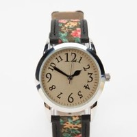 $39.00 Ditsy Floral & Leather Watch - Urban Outfitters