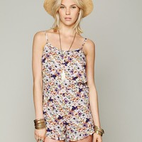 Free People Printed Romper