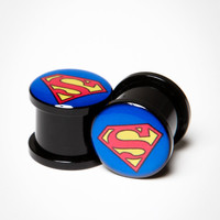 Superman Logo Plug Set
