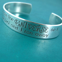 Doctor Who I Stole a Time Lord Cuff Bracelet - Doctor Who quote bracelet