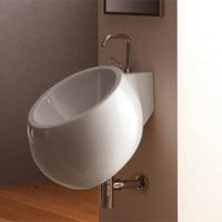 Scarabeo by Nameeks Planet 45 Wall Mounted Bathroom Sink in White - Art. 8100 - Bathroom Sinks - Bathroom Fixtures - Bed & Bath