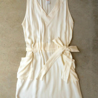 Sweet Summer Ivory Dress [4185] - $36.00 : Vintage Inspired Clothing & Affordable Summer Frocks, deloom | Modern. Vintage. Crafted.