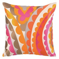One Kings Lane - Designer Pillows - Vivacious 20x20 Linen Pillow, Pink/Orange