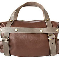 One Kings Lane - Sophisticated Traveler - Small Leather Tote, Brown