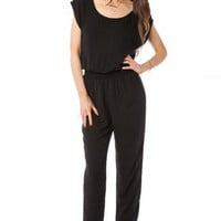 Estabrook Jumpsuit in Black - ShopSosie.com