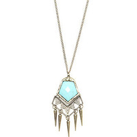 With Love From CA Geo Stone Spikes Pendant Necklace at PacSun.com