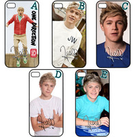 ONE DIRECTION 1D Niall Horan Autograph Apple iPhone 4 4s Back Hard Case Cover
